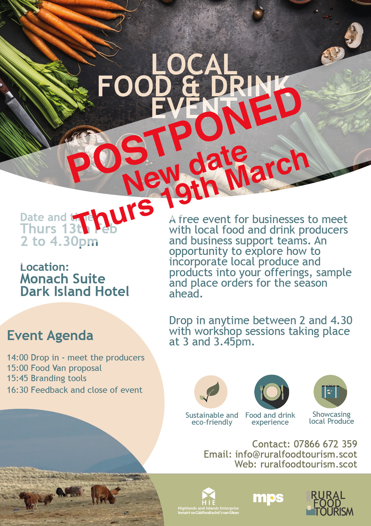 Uist Food and Drink Event 2020 Poster